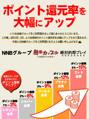 【お知らせ】ポイント還元率が大幅UP!