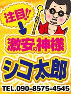 注目!!激安の神様シコ太郎